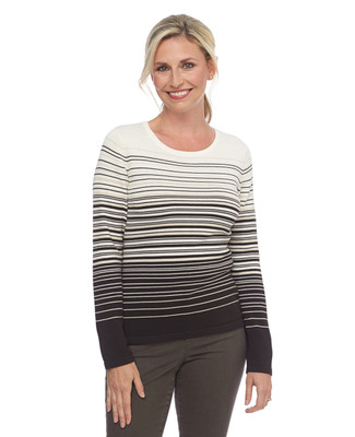NEW - Planet Earth Stripe Crewneck Pullover Top