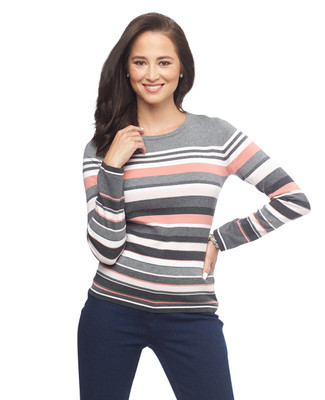 NEW - Stripe Crewneck Pullover Top