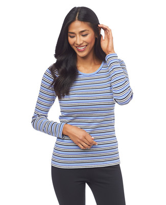 NEW - Stripe Long Sleeve Crewneck Tee