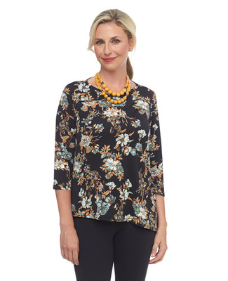 NEW - Printed Asymmetrical Top