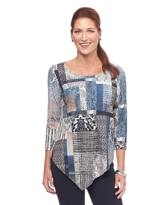 NEW - Three Quarter Angle Patchwork Top