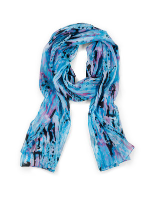 Women's viola abstract print scarf