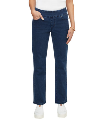 Women's embellished medium wash Comfort denim jean