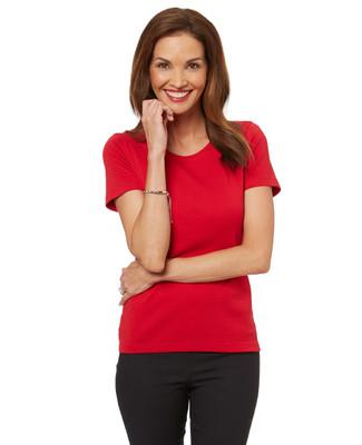 Women's short sleeve cotton crew neck tee