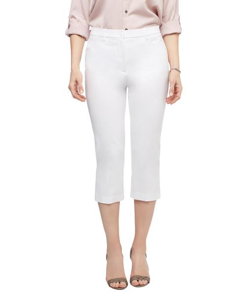 Women's white slim capri pants