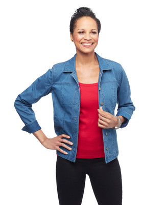 Women's medium wash denim jacket