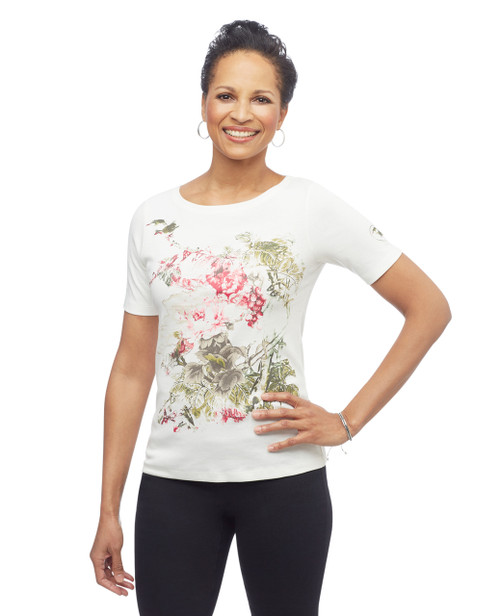 Women's boatneck graphic Children's Miracle Network charity tee