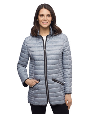 Women's Fen-nelli navy stripe lightweight quilted jacket