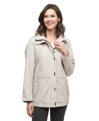 Women's parchment funnel neck anorak water repellent jacket