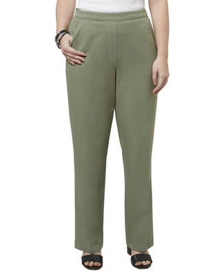 Women's garment dye villager pull on pants