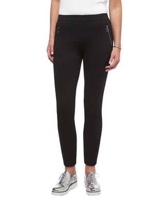 Women's black Point Zero zipper detail pull on pants