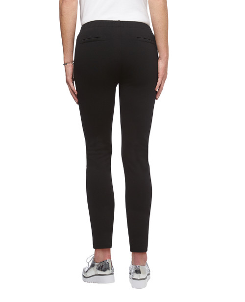Women's black Point Zero zipper detail pull on pants