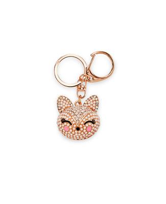 Women's gold jewelled fox key chain