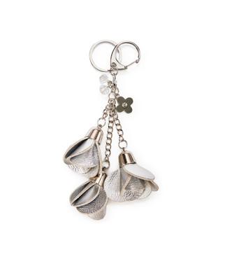Women's silver flower key chain