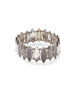 Women's silver glitter stretch bracelet