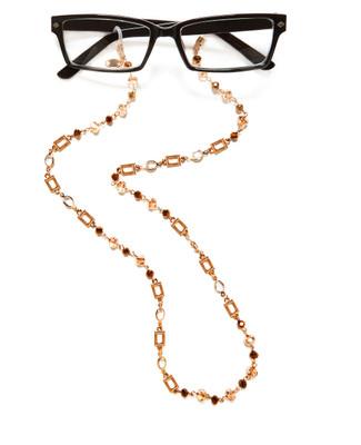 Women's gold eyeglass chain