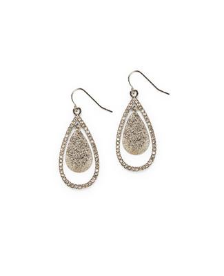 Women's silver teardrop earrings