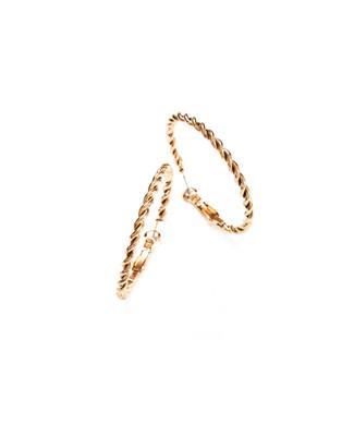 Women's twisted gold hoop earrings