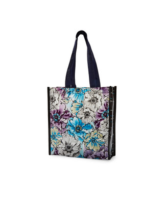 Women's floral printed eco shopping bag