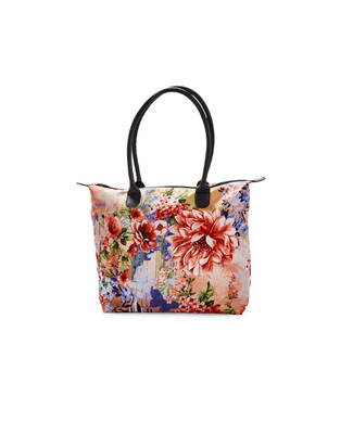 Women's floral printed tote bag
