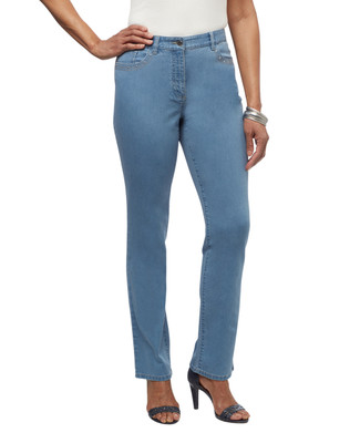 Women's light wash town jeans