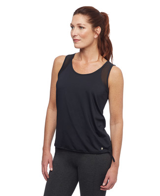 Women's sheer shoulder activewear tank top