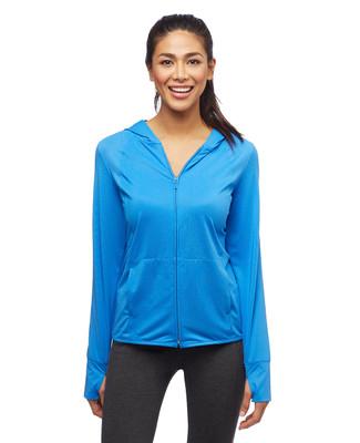 Women's activewear zip up hoodie