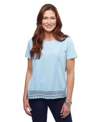 Women's Amanda Green crochet shirt
