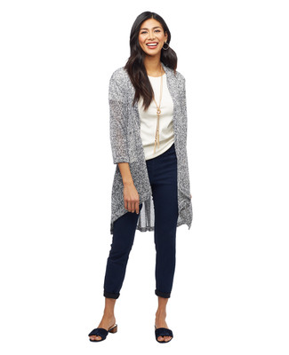 Women's Amanda Green blue open front cardigan