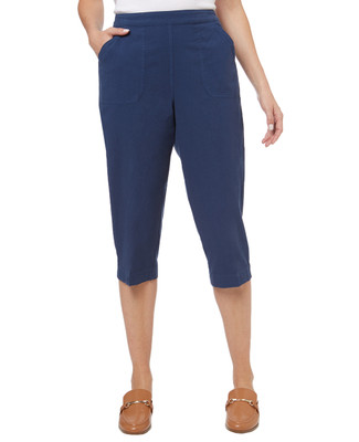 Women's garment dye villager capri pants