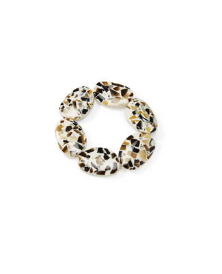 Women's vintage-inspired composite stone bracelet made up of oval stones.