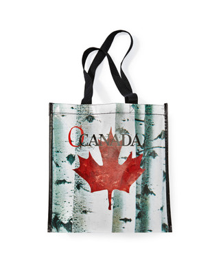 Women's reusable shopping eco bag featuring an exclusively designed Canadian print.