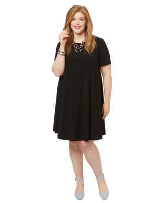 Women's PLUS Collection plus size black swing dress