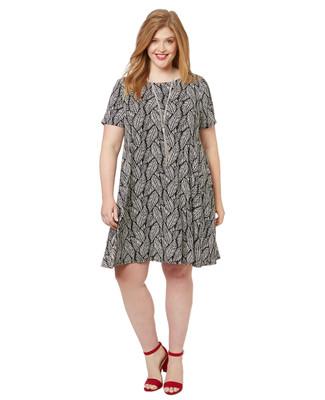 Women's PLUS Collection plus size palm leaf dress