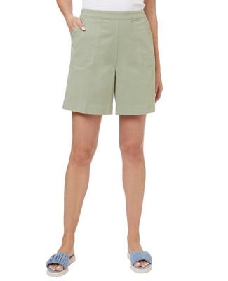 Women's elastic waist bermuda shorts.
