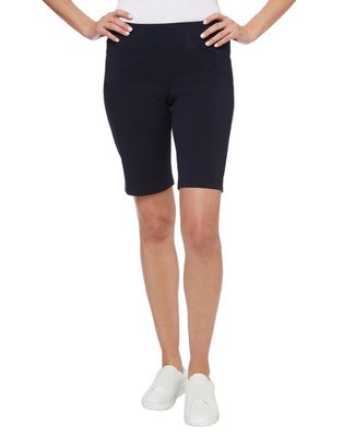 Women's knee length workout shorts from our activewear collection.