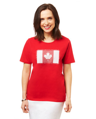 Women's graphic tee with Canada print