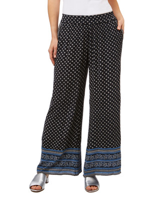 Women's wide leg palazzo pants with paisley print trip