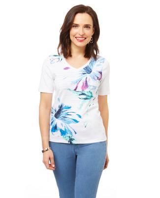 Women's white cotton graphic tee