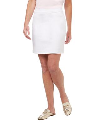 Women's white cotton skort
