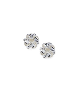 Women's sterling silver twisted knot earrings
