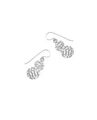 Women's sterling silver drop pendant earrings