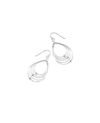 Sterling Silver Wired Tear Drop Earrings