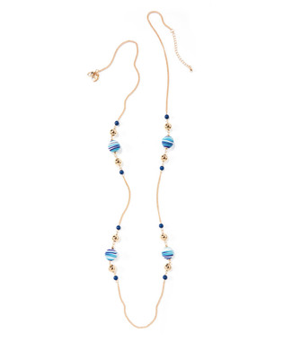 Women's gold and turquoise drop necklace