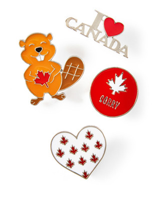 Collection of four Canada pins