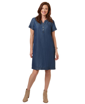 Women's denim chambray dress