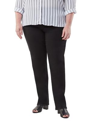 Women's black slimming jeans