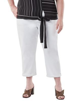 Women's white capri pant