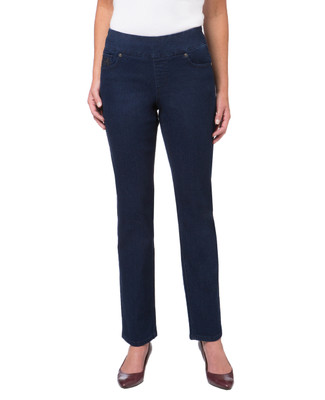 Women's dark blue denim comfort jeans