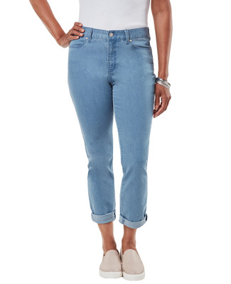 Women's light wash cropped jeans